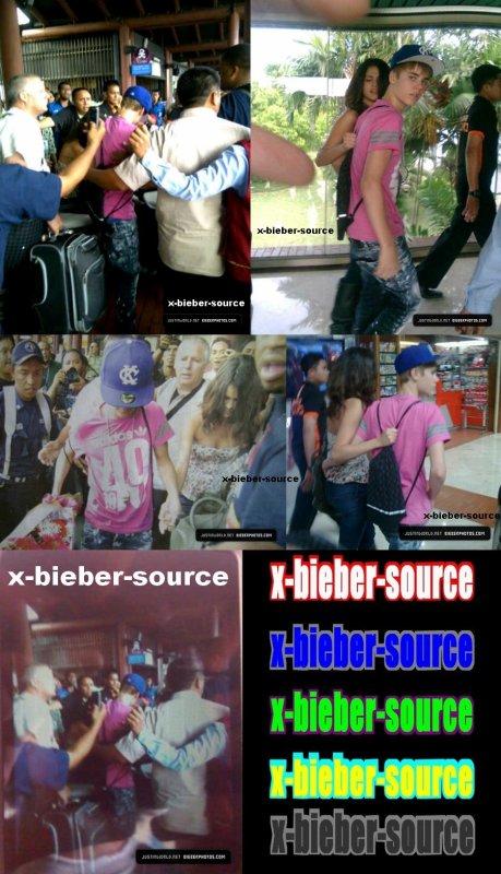 . . Jelena__________________ Justin Bieber et Selena à l'aéroport de Jakarta . .