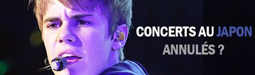 . . Concert__________________ Justin ne fera peut être pas sa tournée au Japon . .