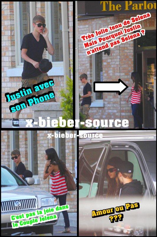 . . 2 Juin 2011__________________ Justin et Selena sortent de leur Hôtel à Stratford . .
