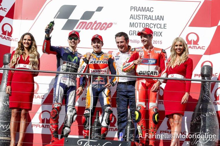 Podium marquant MotoGP en 2015.