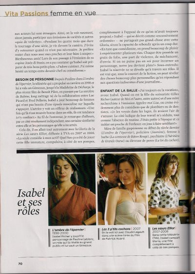 Un Article sur Isabelle Richer (Julie Lemieux)