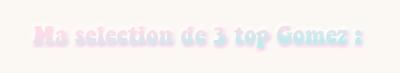» QuiteNights { PRÉSENTATION : Sélections de tops de Selena : Création : Décoration }