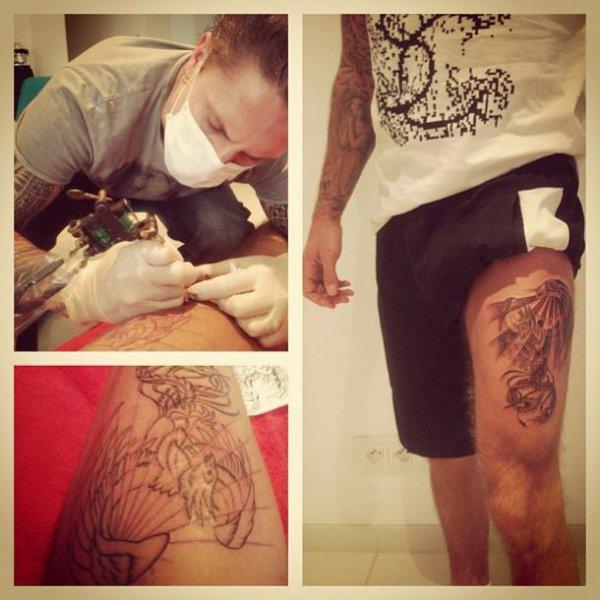 Le nouveau tattouage de Matt!! Mi-Dragon, Mi-Phénix ... Quand penser vous? <3
