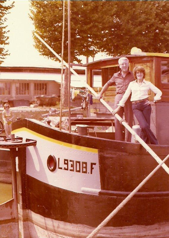 l angele en 1976 moi et pere