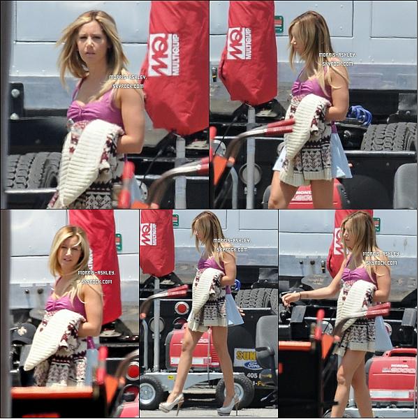 """19/06/2012 :Ashley a été vue sur le tournage de « Sons Of Anarchy » ou elle jouera le rôle de Emma, uneséductrice""""hors-paire"""". Top ou Flop ?"""