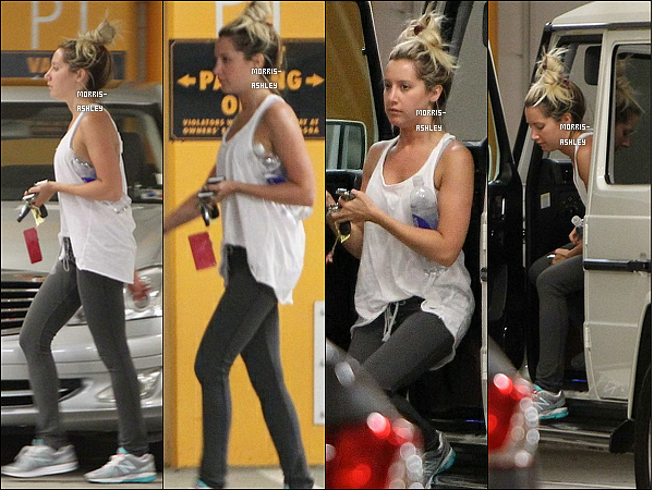 25/06/2012 : Après avoir tournée quelques scènes de « Sons Of Anarchy », Ashley a eu le courage d'allez faire sa gym à l'Equinox gym dans le West Hollywood. Top ou Flop ?