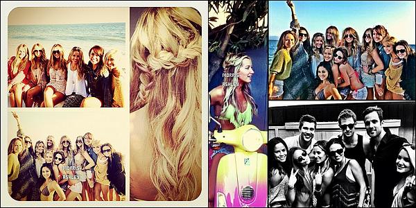 02/07/2012- Ashley fêtait son anniversaire sur la plage de Malibu en compagnie de son boyfriend, Scott et de ses amis.