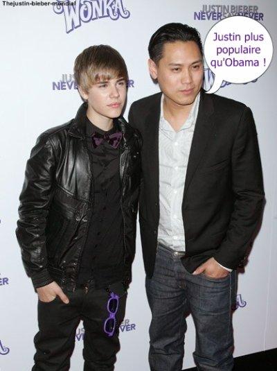 """""""Justin plus populaire qu'Obama"""""""
