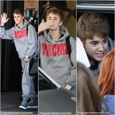 Justin quitte son hôtel