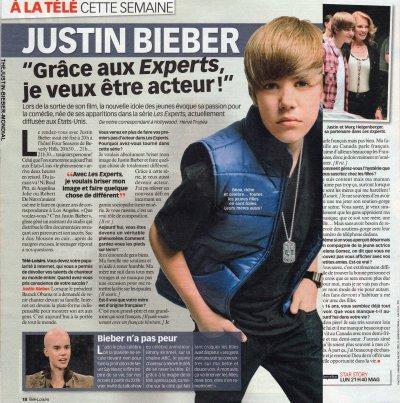Justin dans les magazines Français
