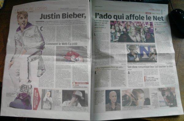 Justin dans le Journal