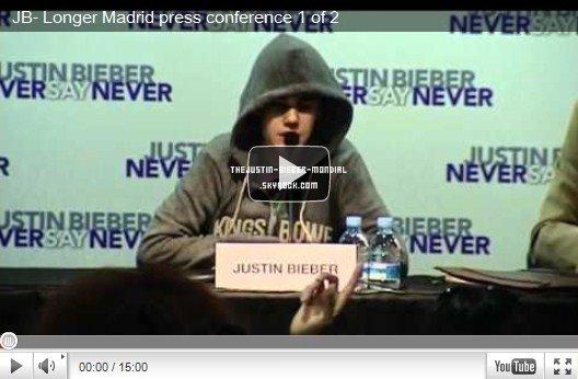 Conférence de presse à Madrid