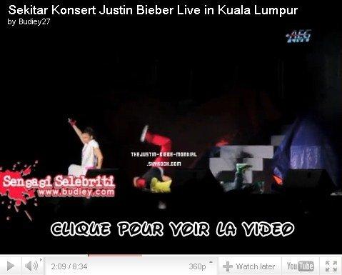 Vidéos du concert à Kuala Lumpur