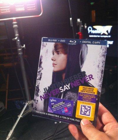 Never Say Never : Le DVD dans les bacs Américains !