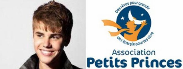 """Justin soutient l'association """"Petits Princes"""""""