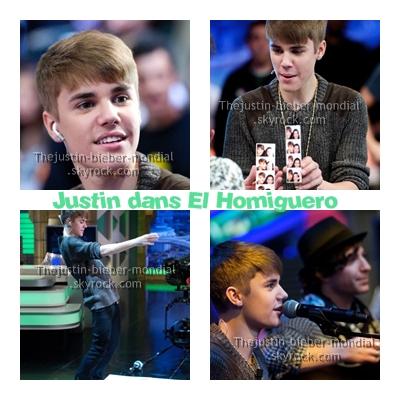 Justin dans El Homiguero