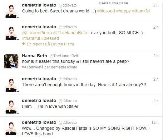 Le 7 Avril, Demi a publié une jolie photo d'elle sur son compte Twitter.
