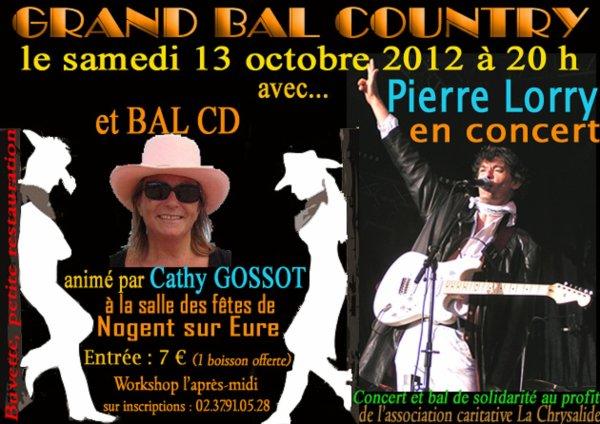 GRAND CONCERT / BAL COUNTRY le samedi 13 octobre 2012
