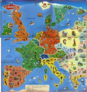 Carte Europe Savane.Le Gaulois Carte De L Europe Depart Aimants Francais