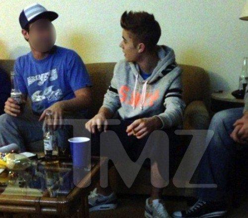 Justin, accusé d'avaoir fumé de l'herbe !