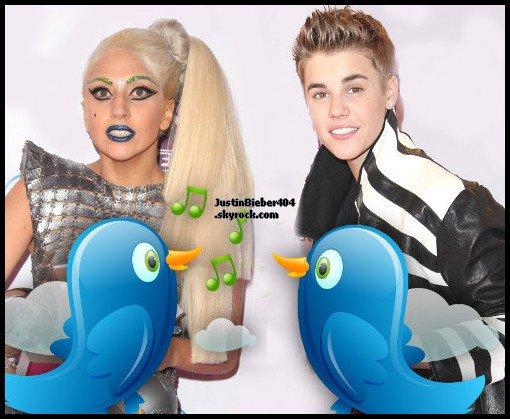 Justin : Va t-il battre Lady Gaga sur Twitter ?