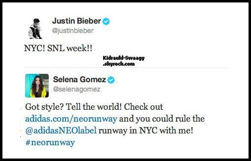 Justin à NYC pour le SNL avec Selena ?