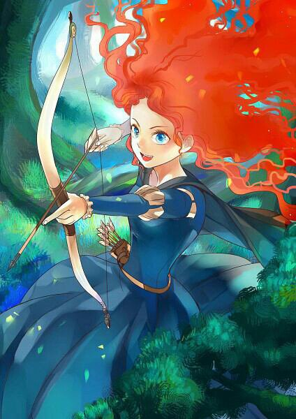 RAIPONCE VS MERIDA.