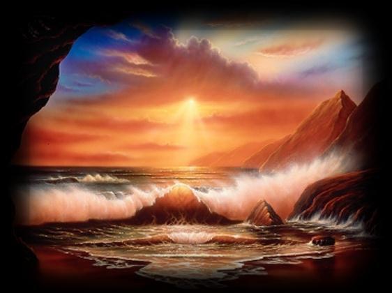 c est beau de voir un coucher de soleil sur la plage