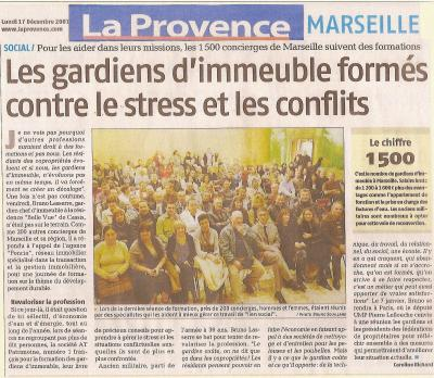 article du journal la provence marseille du 17 decembre 2007 l 39 ange. Black Bedroom Furniture Sets. Home Design Ideas