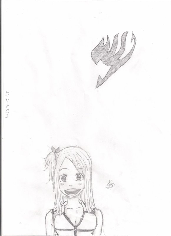 Dessin Lucy de Fairy tail