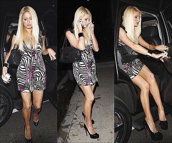 -[/align=center] 31 / 07 / 11     Paris H. et Lindsay Lohan (Pas sur les photos) quittait une boite de nuit situer dans Malibu. -[/align=center]