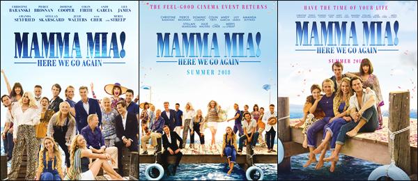 •Découvrez les photos promotionnelles du film « Mamma Mia 2 »sorti le 18 juillet 2018 !