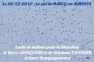 Pour la Libération des otagesSoutenons HERVE GHESQUIERE et STEPHANE TAPONIER Journalistes Français et leurs 3 accompagnateurs