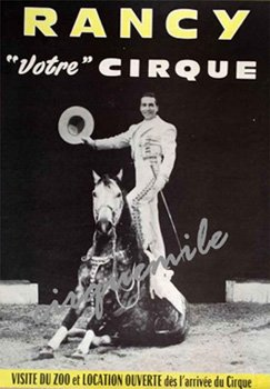 Affiche Cirque RANCY, l'un des Cirques de mon enfance