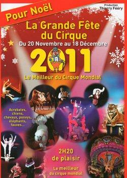 Programme Fête lilloise du Cirque 2011