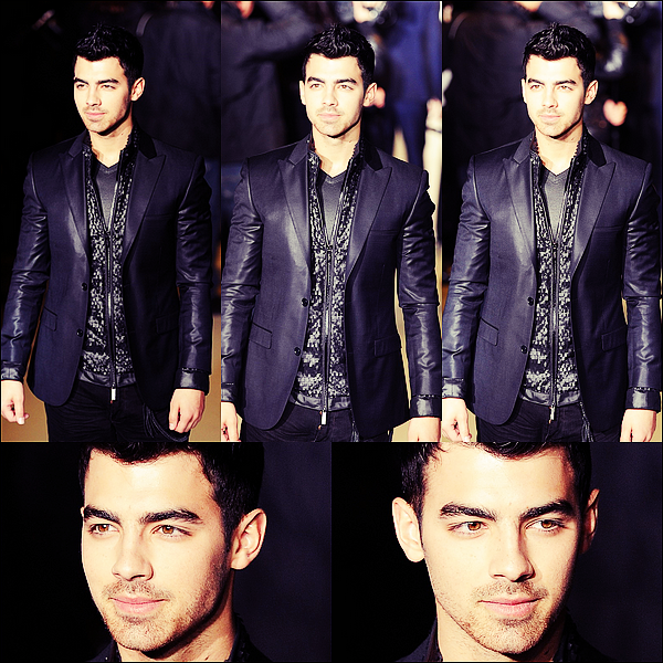 Flash-Back du 15.01.2012 : Joe était au défilé Calvin Klein pour la collection Homme (Milan).