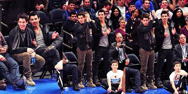 Flash-Back du 21/01/12 : Joe et Nick s'était retrouvés pour un match de Basket pour soutenir l'équipe New Yorkaise.