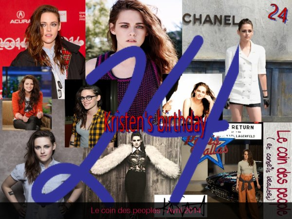 Nous souhaitons un très bon anniversaire à notre belle Kristen Stewart - 24 ans