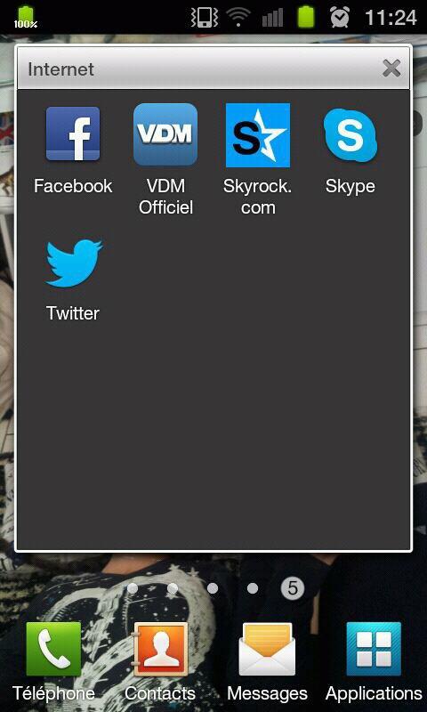 Jvien de me rendre compte que tt les resaux sociaux que j'ai ont une icone bleu...