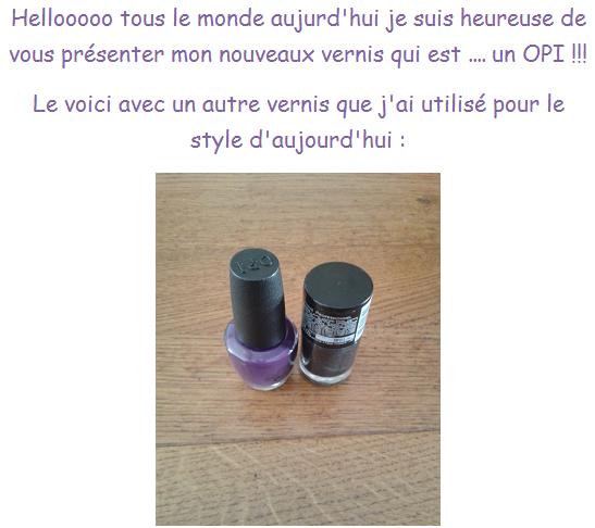 Mon OPI + Mon autre blog !!!