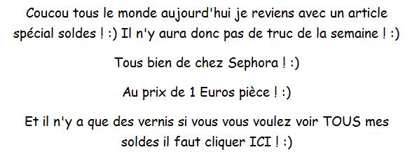 Haul Vernis Sephora ! :)