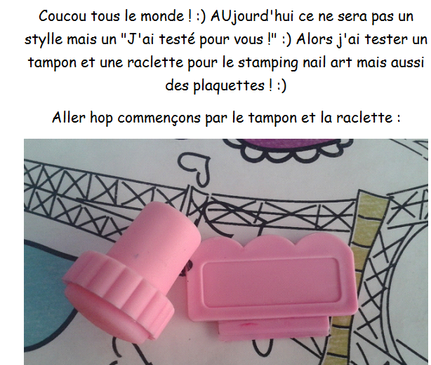 J'ai tester pour vous le stamping nail art .... :)