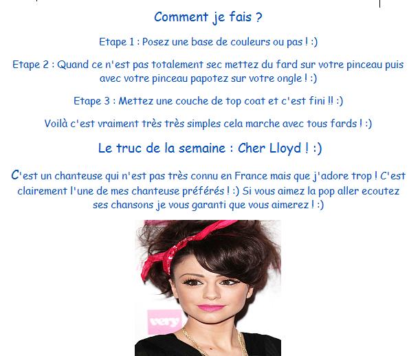 1000 Couleurs et seulement 1 vernis + Cher Lloyd :)