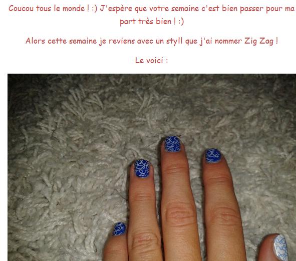 Zig Zag + Le stamping nail art ! :)
