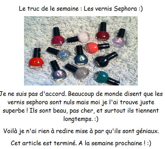Rangement Nail Art + Les Vernis Sephora ! :)