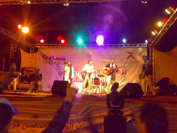 ilyasse-rai sur scene de festival national music de jeun