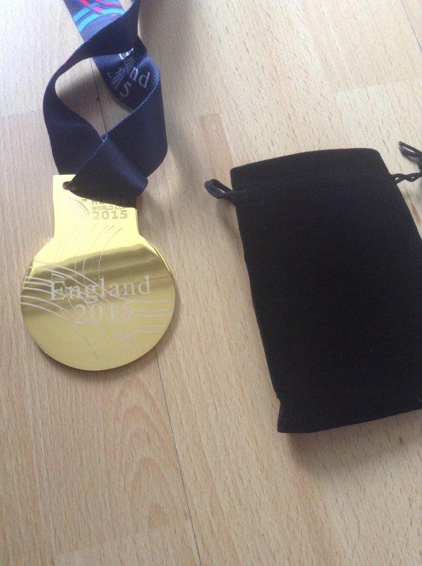 Médaille du vainqueur coupe du monde de rugby 2015 Angleterre
