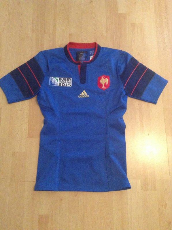 Maillot de match équipe de France de rugby coupe du monde 2015