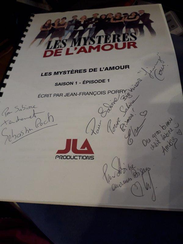 Autographe de Sébastien Roch, Elsa Esnoult, Ambre Rochar, Laly Meignan et Tom