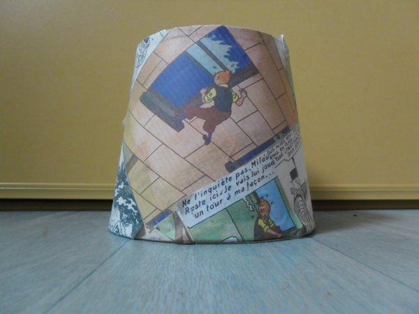 Création personnelle: Abat-jour Tintin